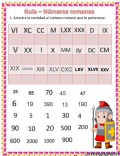 Fichas de numeros romanos para imprimir, masquelibros