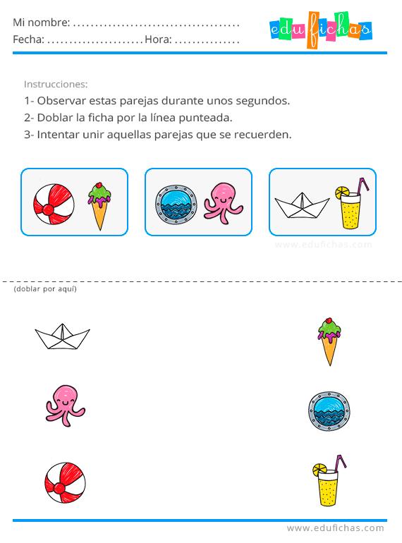 Fichas estimulacion cognitiva niños para imprimir, masquelibros