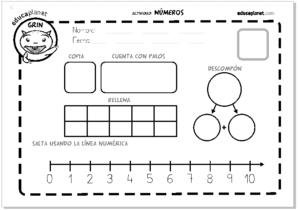 Fichas para niños de 5 a 6 años para imprimir, masquelibros