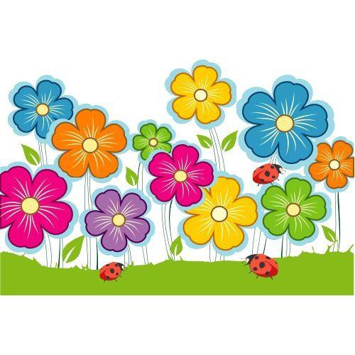 Flores de primavera para imprimir, masquelibros