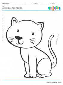 Gato para colorear e imprimir, masquelibros