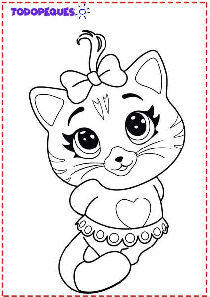 Gatos para colorear e imprimir, masquelibros