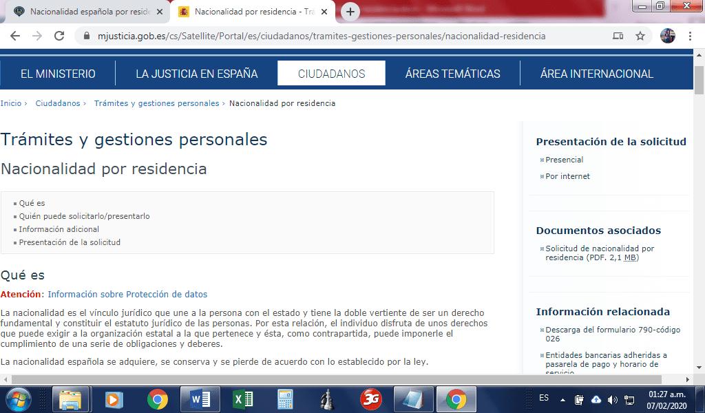Impreso solicitud nacionalidad española por residencia, masquelibros