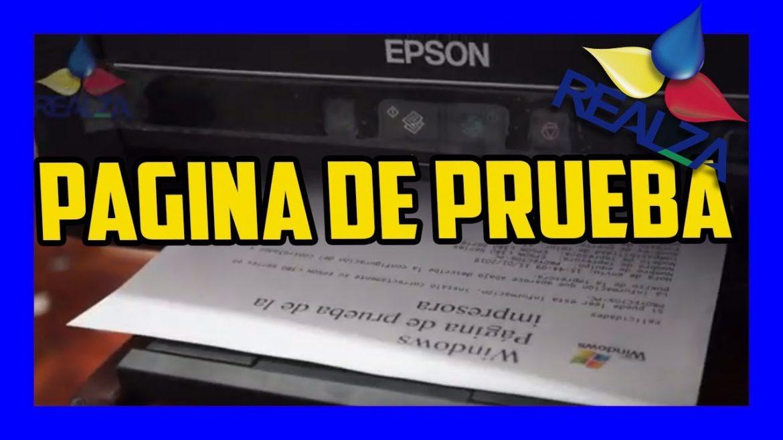 Imprimir pagina de prueba hp, masquelibros