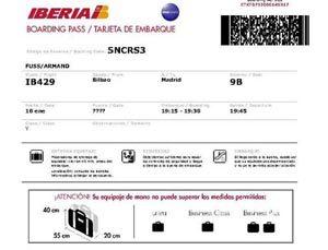 Imprimir tarjeta de embarque iberia, masquelibros