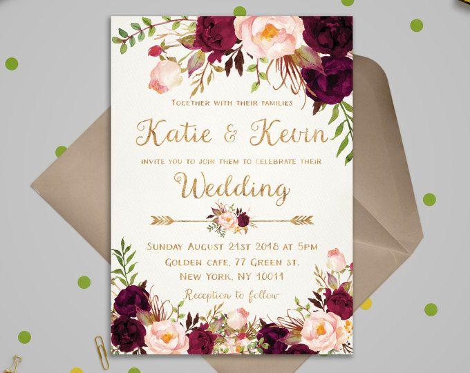 Invitaciones de boda originales para imprimir, masquelibros
