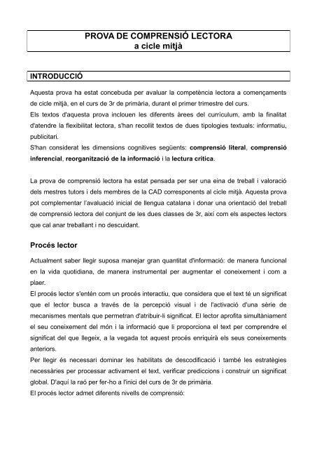 Lectures en català primària per imprimir, masquelibros