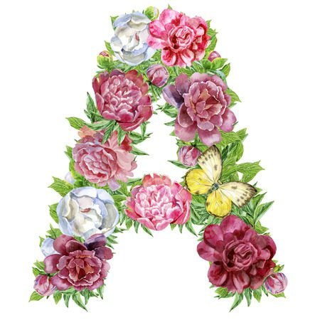 Letras con flores para imprimir, masquelibros