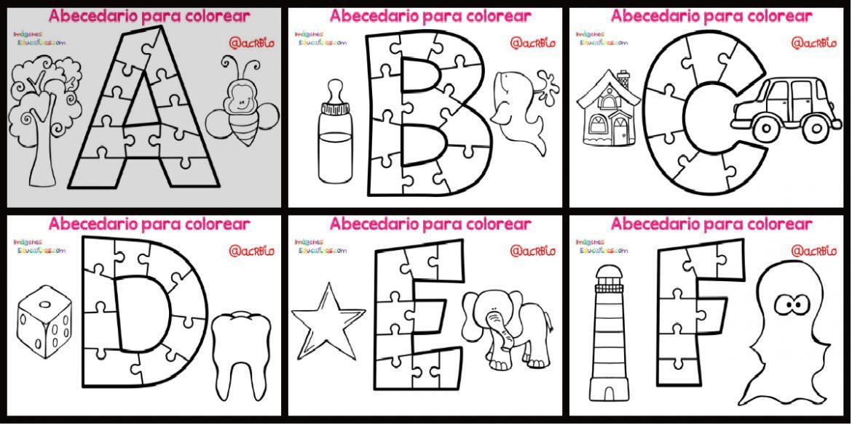 Letras del abecedario para colorear e imprimir, masquelibros