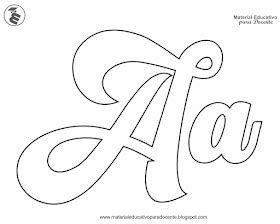 Letras del abecedario para imprimir, masquelibros