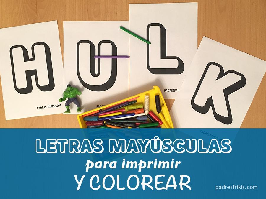 Letras huecas para colorear e imprimir, masquelibros