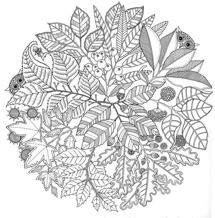 Mandalas de otoño para imprimir, masquelibros