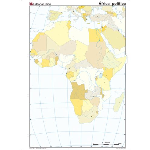 Mapa de africa para imprimir, masquelibros