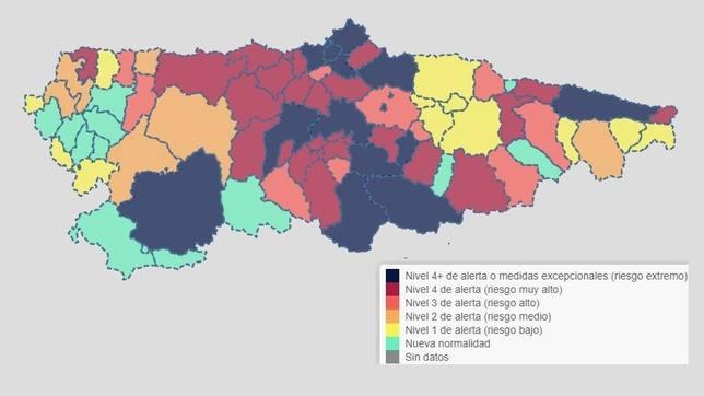Mapa de asturias por concejos para imprimir, masquelibros