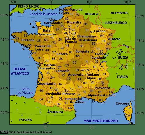 Mapa de bretaña y normandia para imprimir, masquelibros