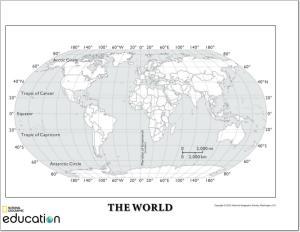 Mapa de continentes y oceanos para imprimir, masquelibros