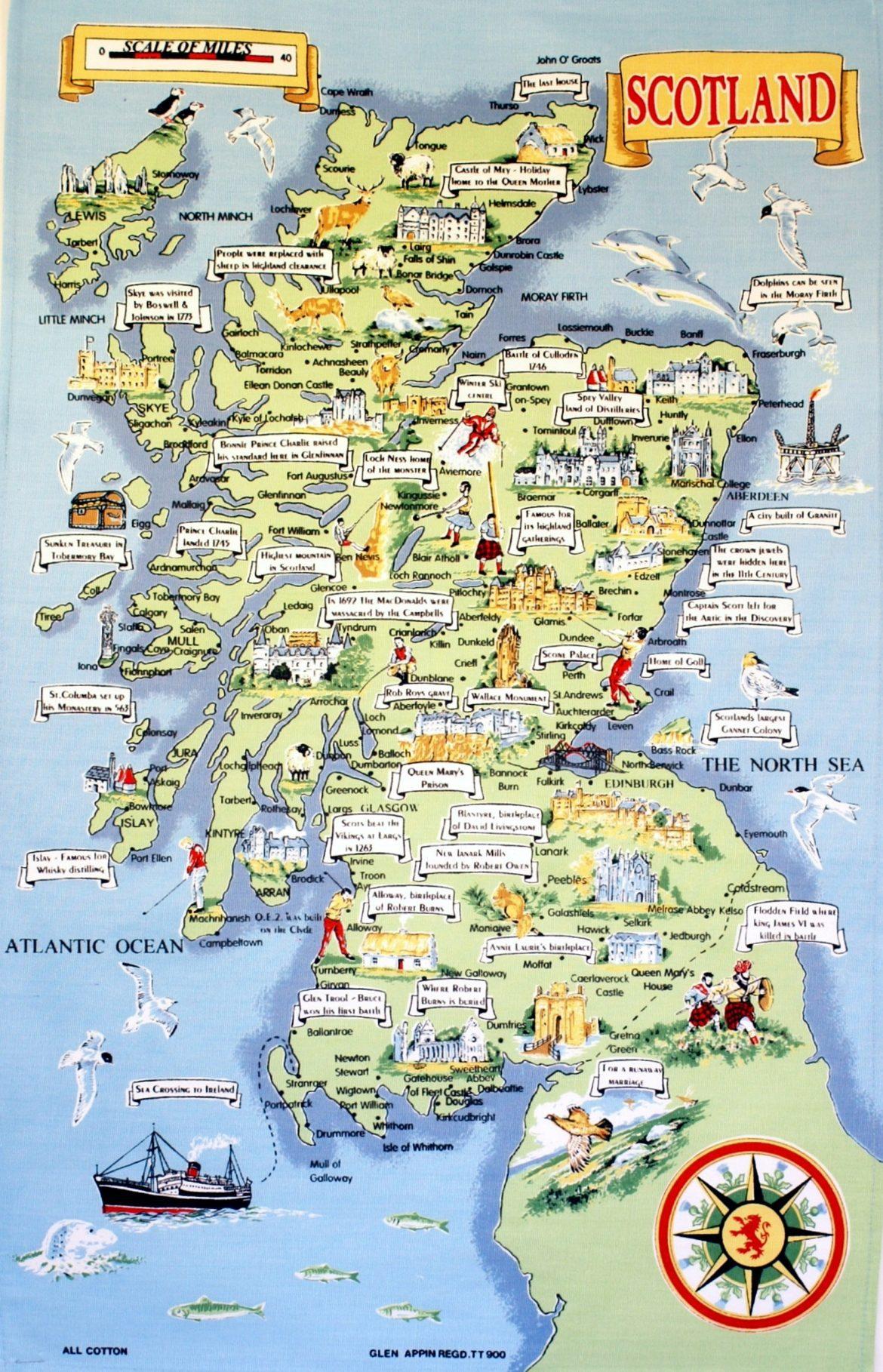 Mapa de escocia para imprimir, masquelibros