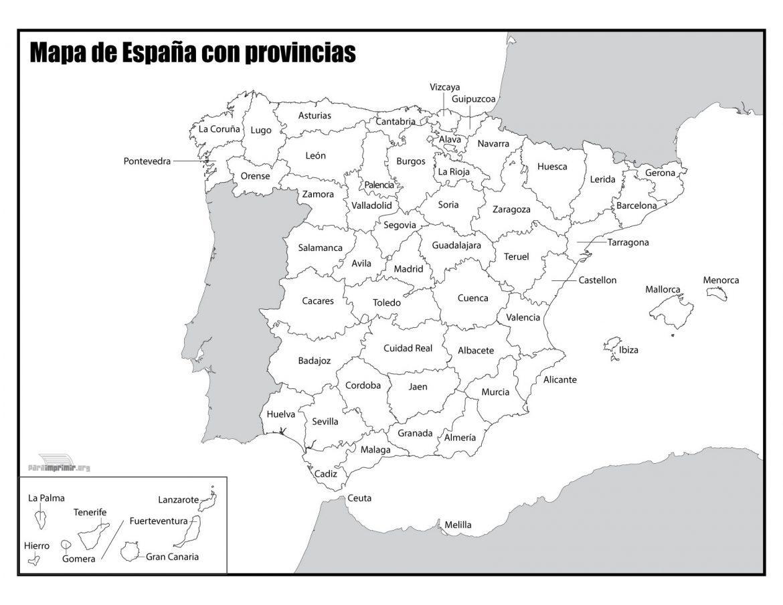 Mapa de españa para imprimir, masquelibros