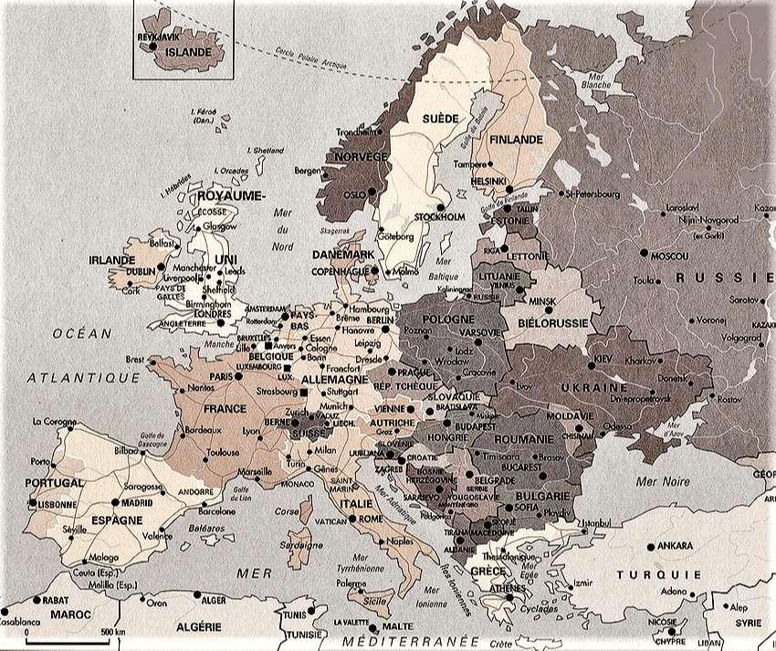 Mapa de europa en blanco para imprimir, masquelibros