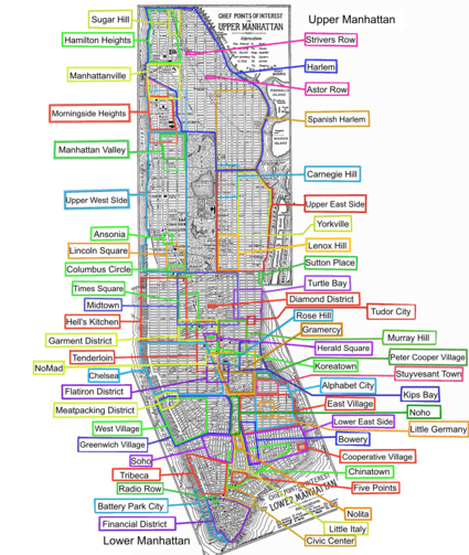 Mapa de manhattan para imprimir, masquelibros