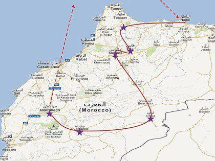 Mapa de marruecos para imprimir, masquelibros