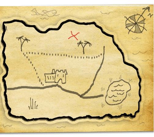 Mapa del tesoro para imprimir, masquelibros