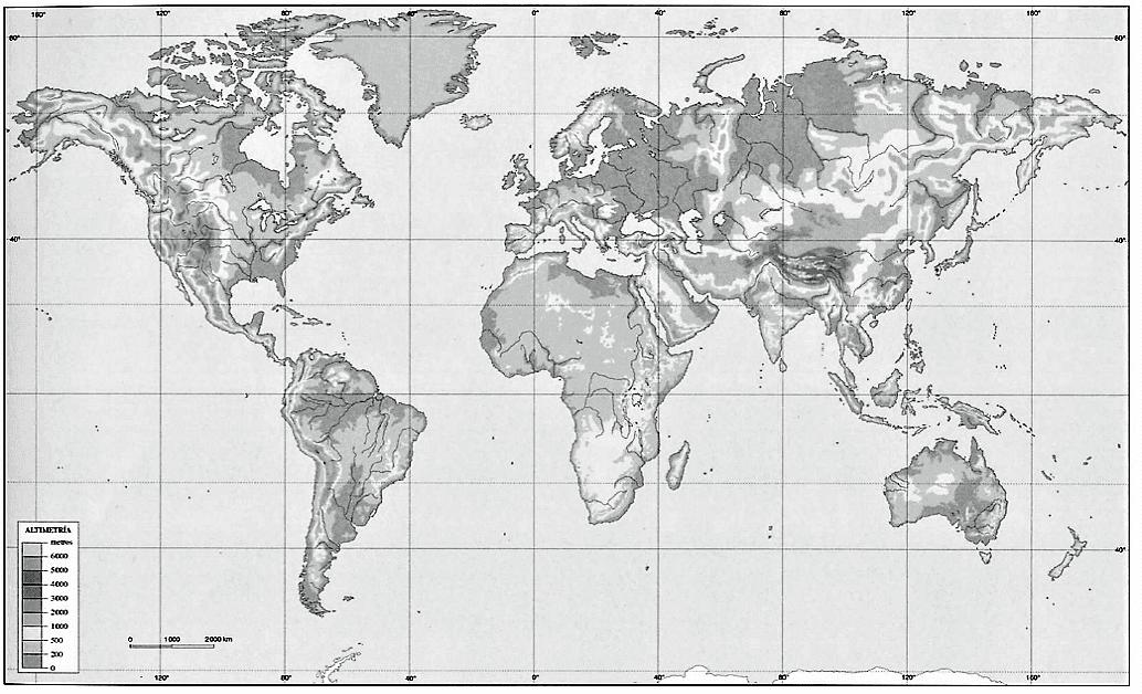 Mapa fisico de africa mudo para imprimir tamaño folio, masquelibros