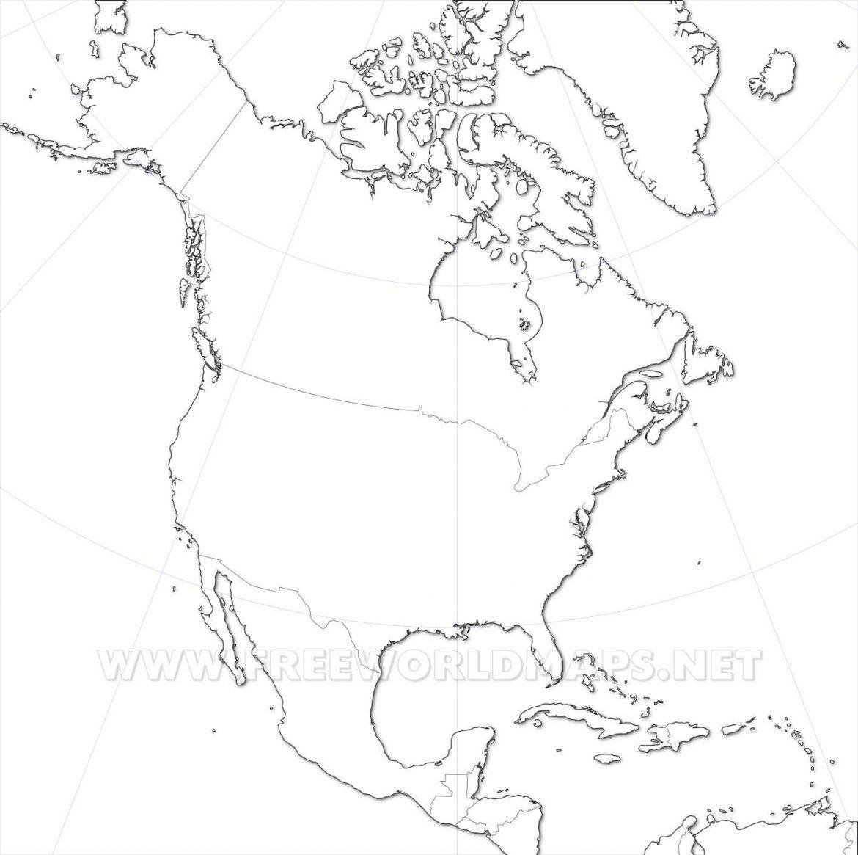 Mapa fisico de america del norte para imprimir, masquelibros