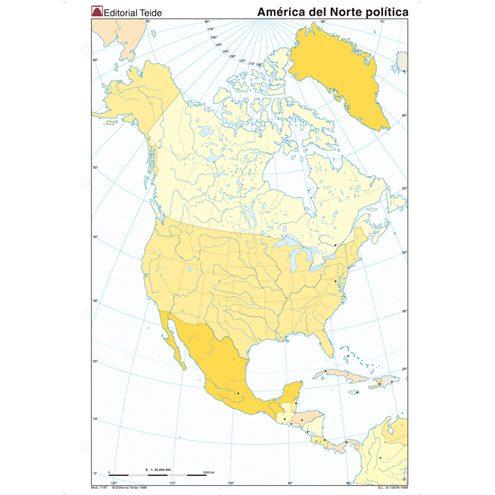Mapa fisico de america mudo para imprimir, masquelibros