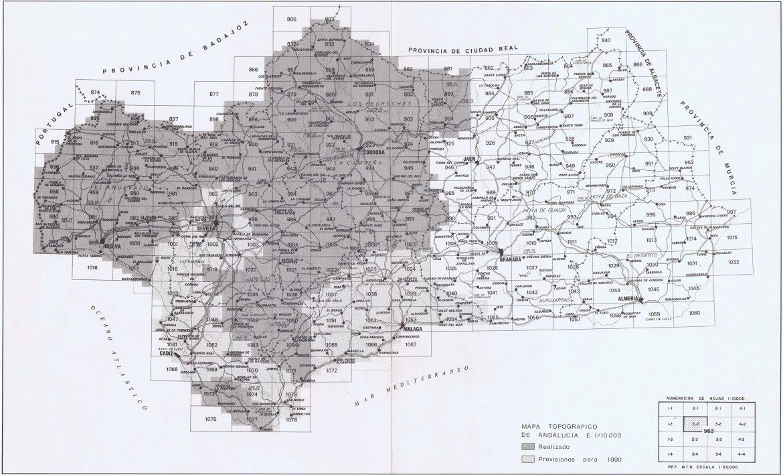 Mapa fisico de andalucia para imprimir, masquelibros