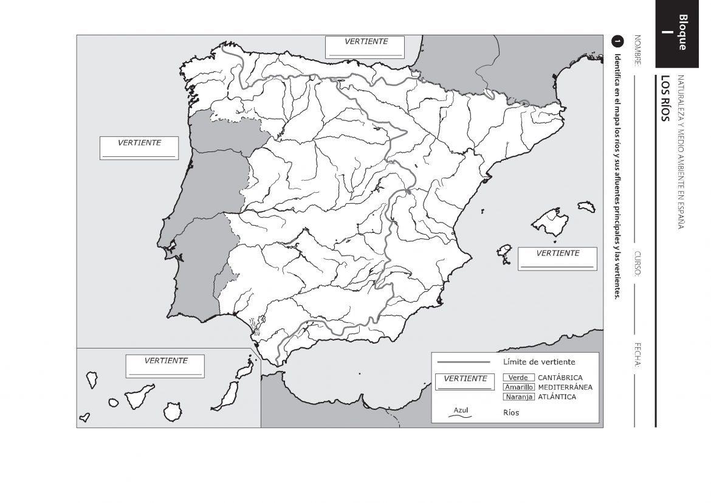 Mapa fisico de españa para imprimir, masquelibros