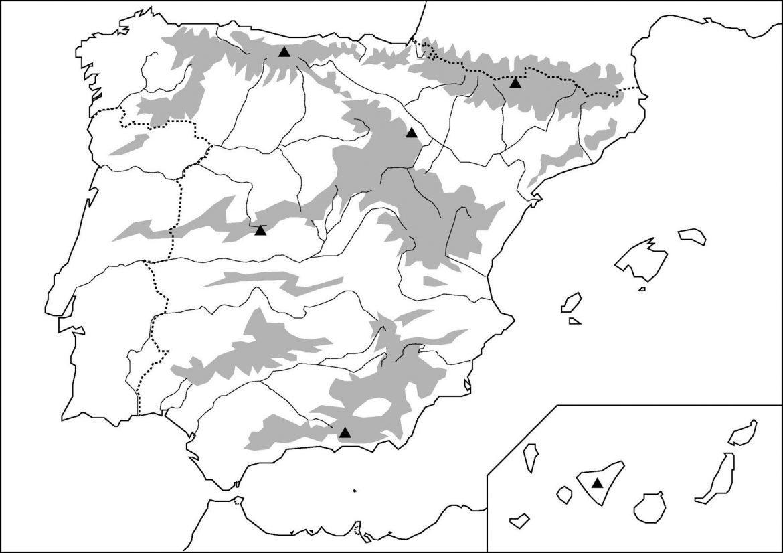Mapa fisico de españa sin nombres para imprimir, masquelibros