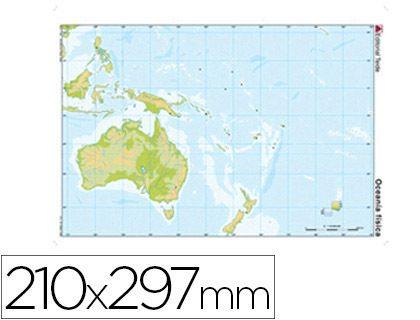 Mapa fisico de oceania para imprimir, masquelibros