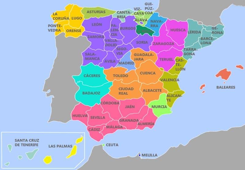 Mapa mudo comunidades autonomas españa para imprimir, masquelibros