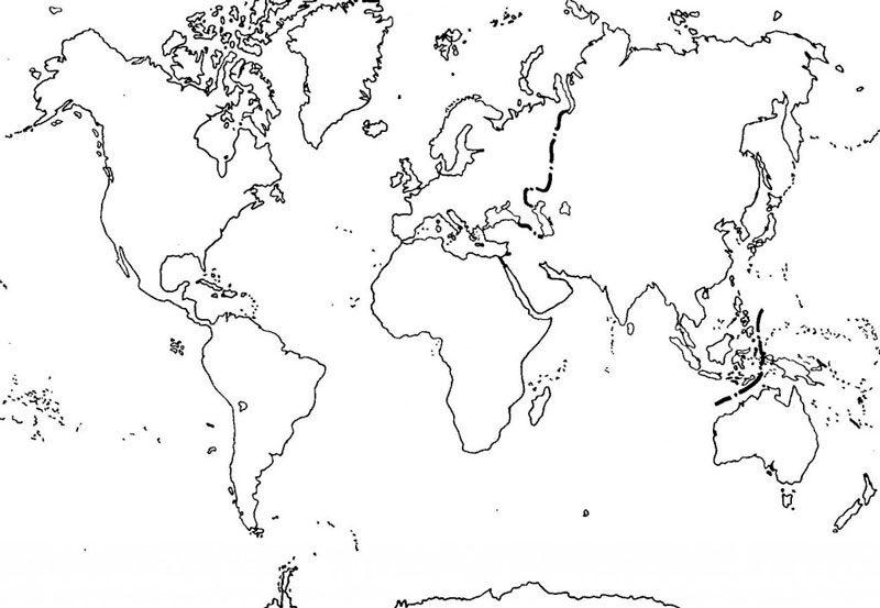 Mapa mudo de rios del mundo para imprimir, masquelibros
