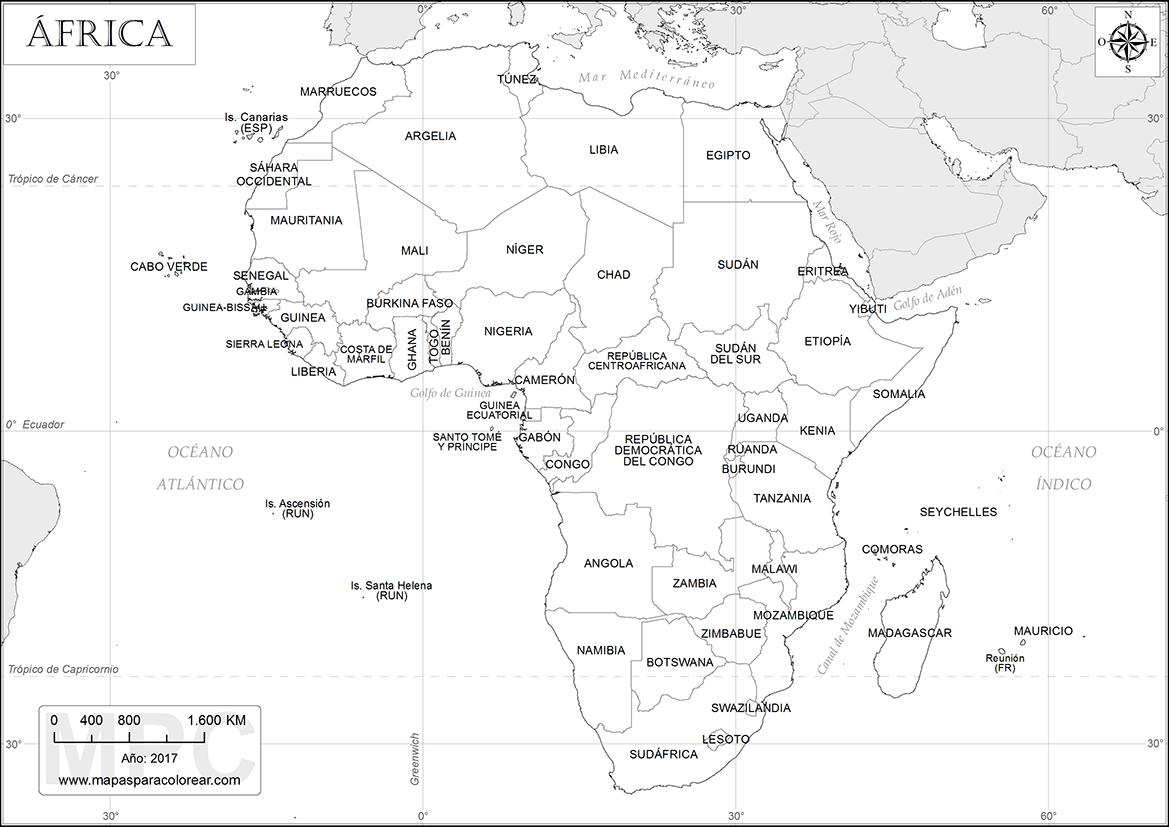 Mapa politico de africa para imprimir, masquelibros