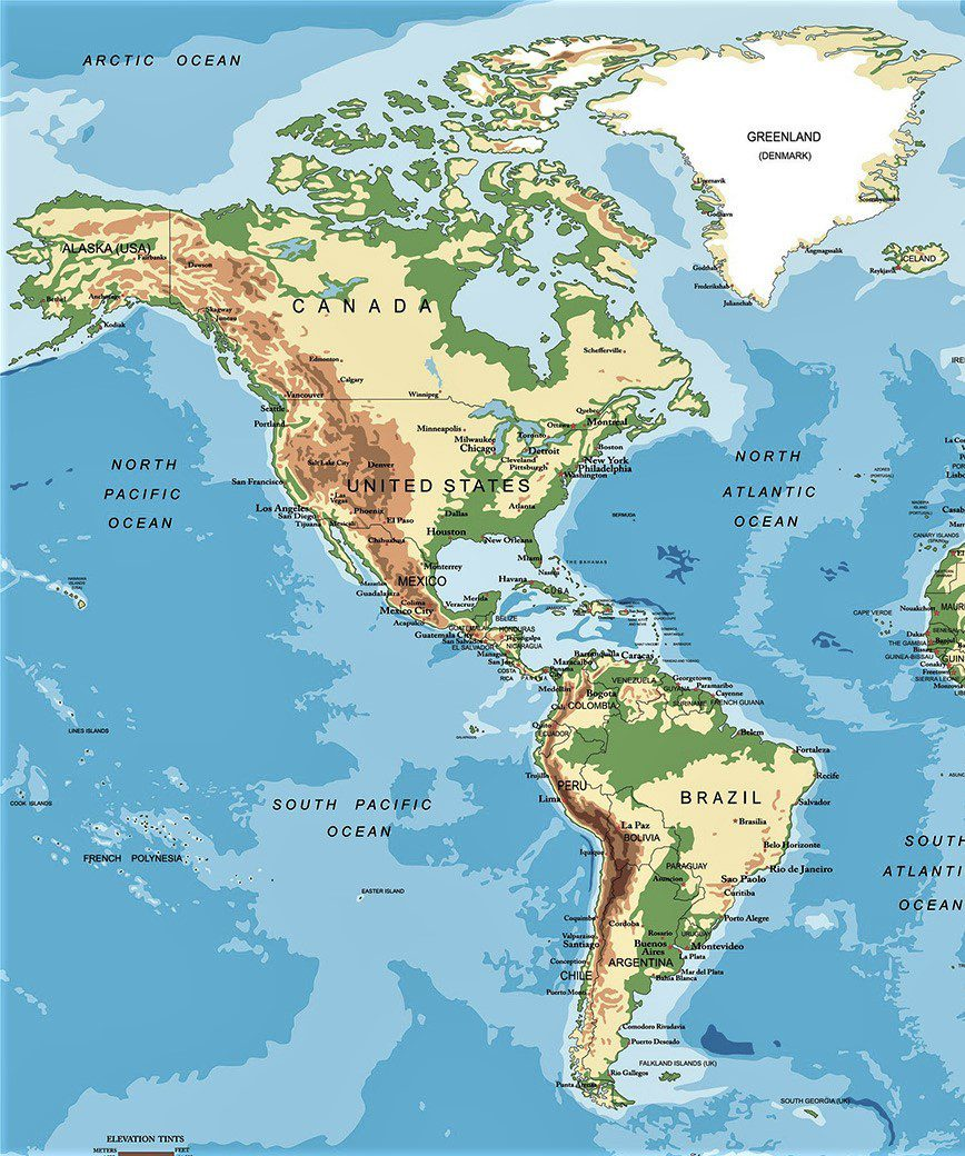 Mapa politico de america para imprimir, masquelibros