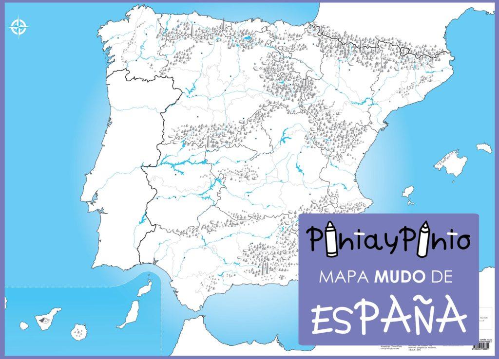 Mapa politico de españa en blanco para imprimir, masquelibros