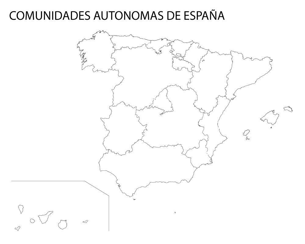 Mapa politico de españa sin nombres para imprimir, masquelibros