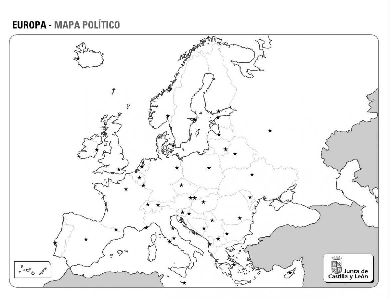 Mapa politico de europa mudo para imprimir tamaño folio, masquelibros