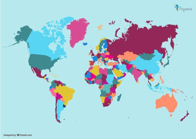 Mapa politico del mundo mudo para imprimir, masquelibros