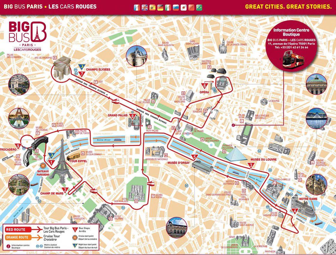 Mapa turistico de paris para imprimir, masquelibros
