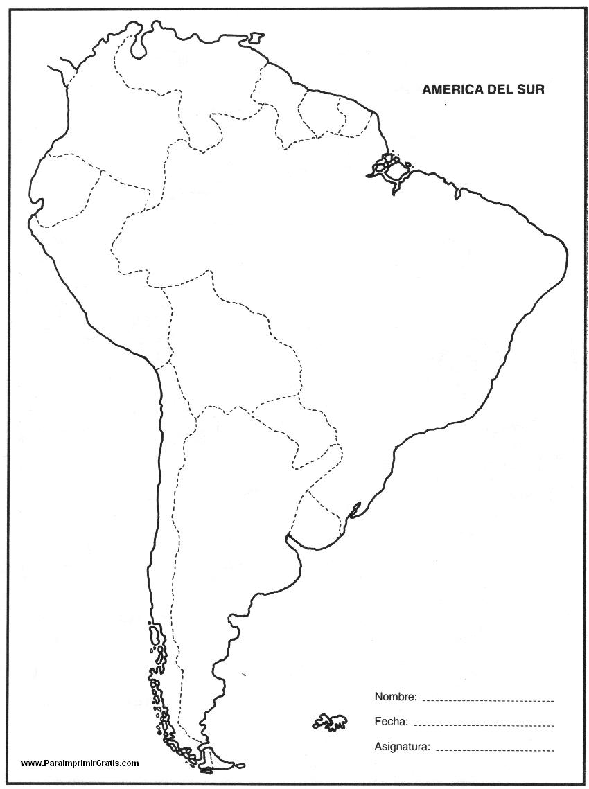 Mapas de america para imprimir, masquelibros