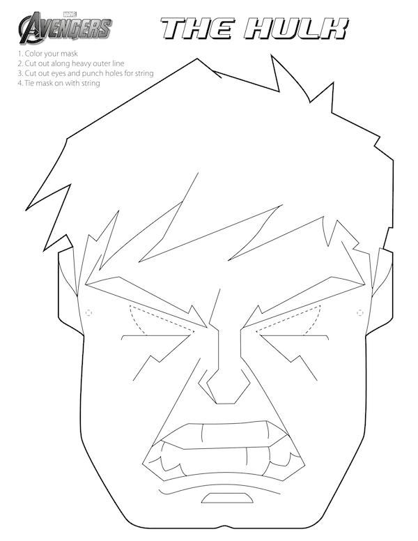 Mascaras de superheroes para imprimir y colorear, masquelibros