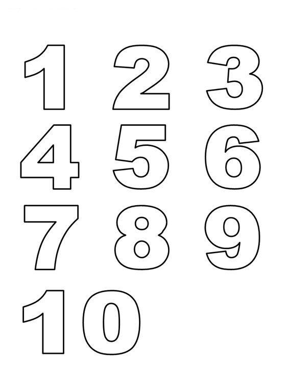 Modelos de numeros para imprimir, masquelibros