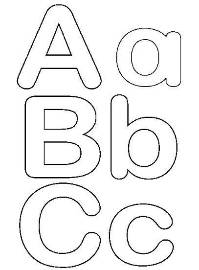 Moldes de letras para imprimir y recortar, masquelibros