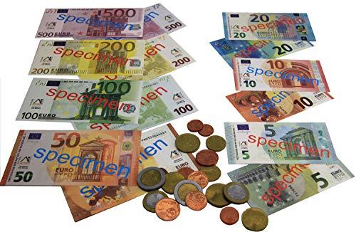 Monedas y billetes de euro para imprimir para niños, masquelibros