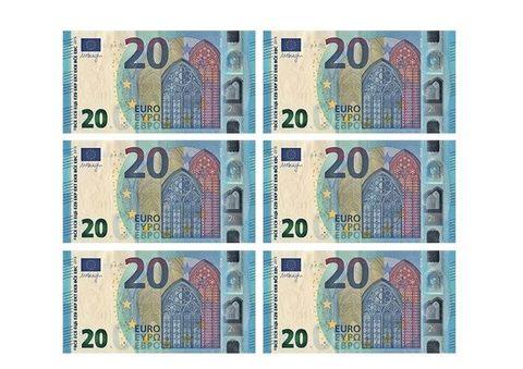 Monedas y billetes de euro para imprimir, masquelibros