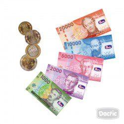 Monedas y billetes para imprimir, masquelibros
