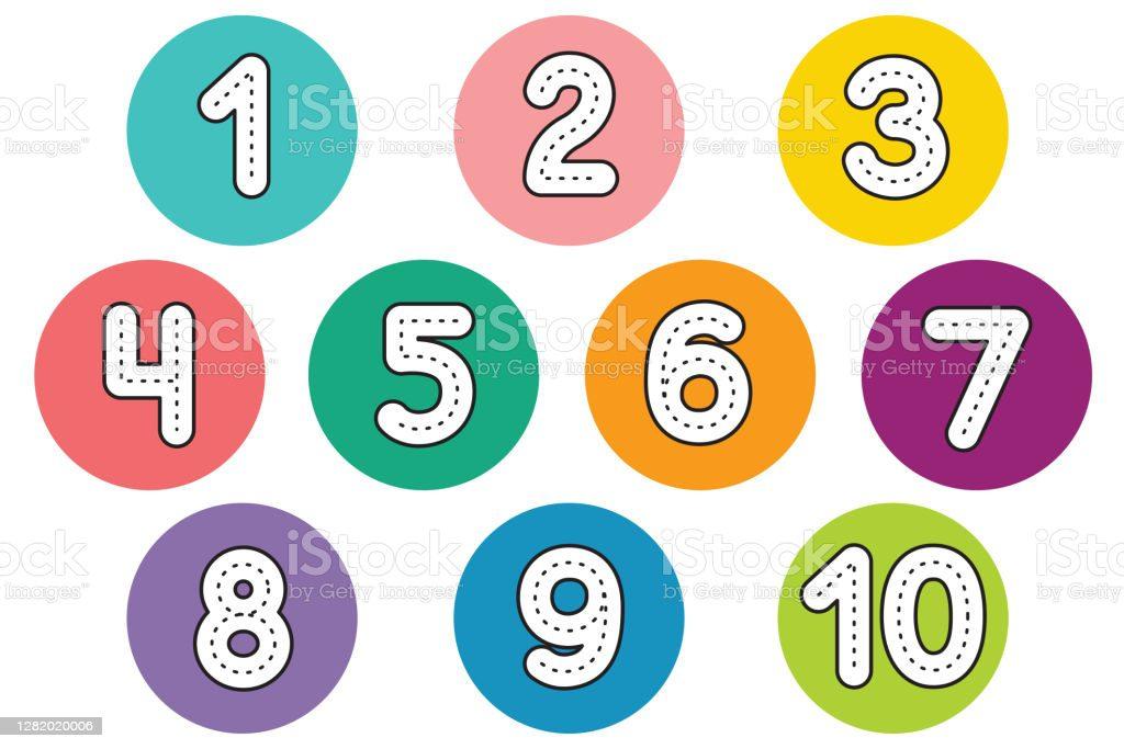 Numeros de colores para imprimir, masquelibros